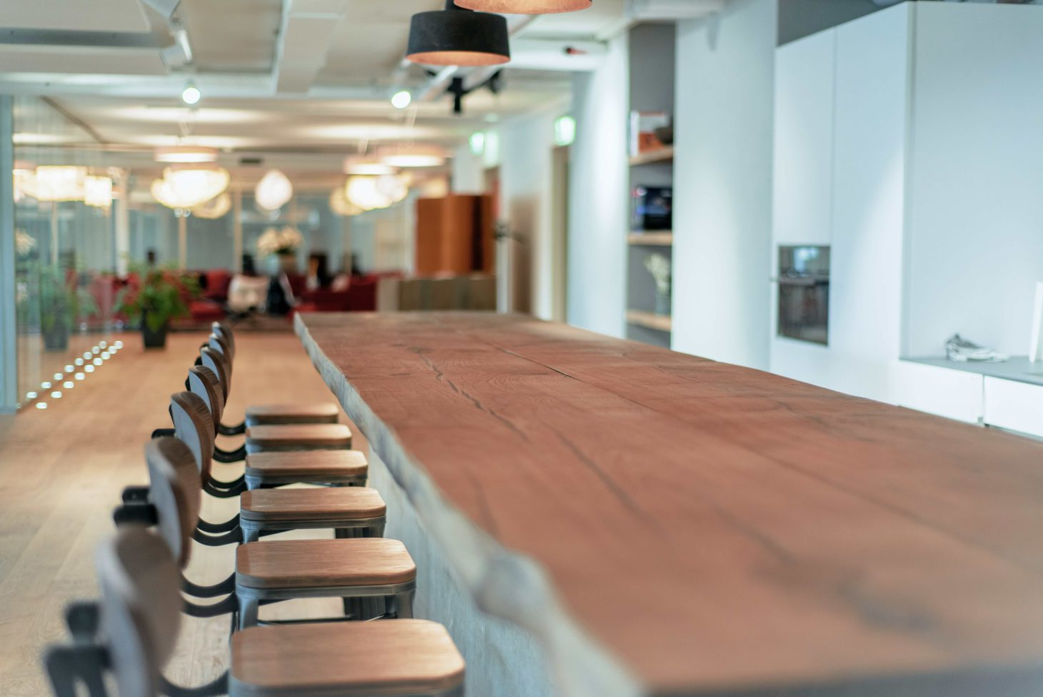 Image of a kitchen and a dining table with chairs, valantic Customer Engagement & Commerce St. Gallen branch