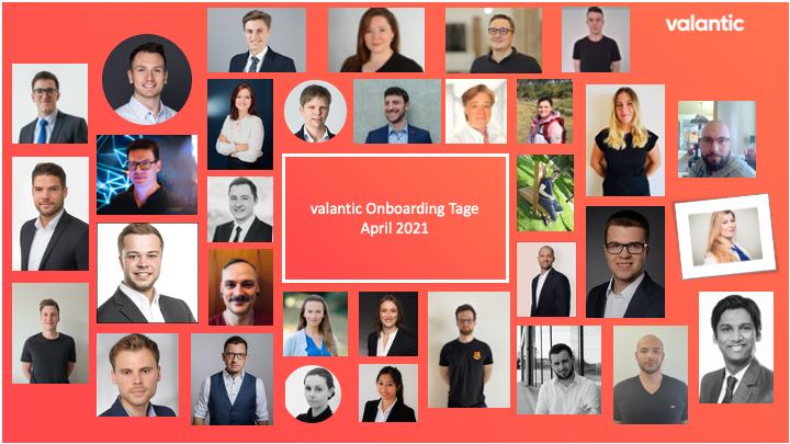 Bild der Teilnehmerinnen und Teilnehmer des valantic Onboardings im April 2021