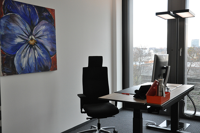 Branch of valantic SCE in Munich, picture of a single office