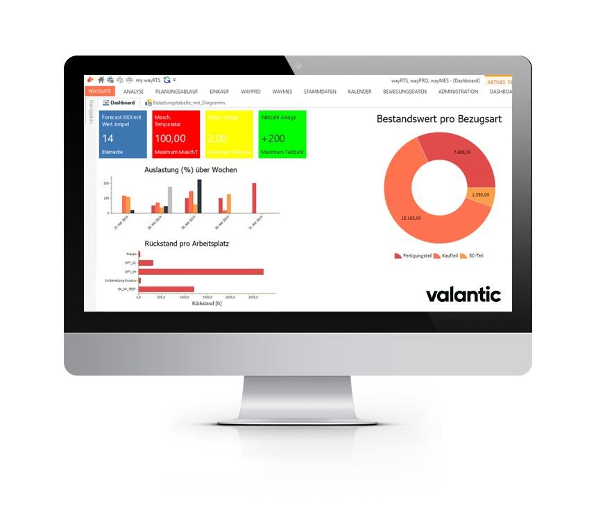 Image of a computer screen of valantics waySuite software