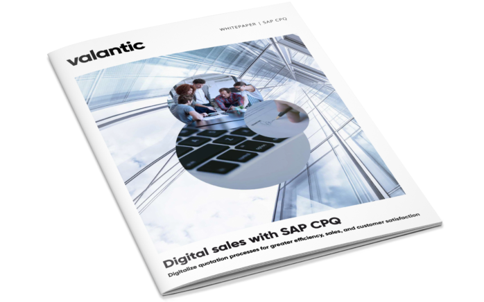 Cover of the white paper digital sales with SAP CPQ by valantic