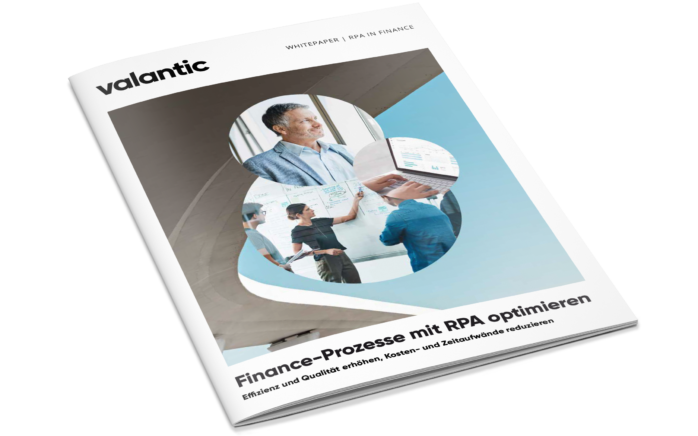 Cover des Whitepapers Finance-Prozesse mit RPA optimieren