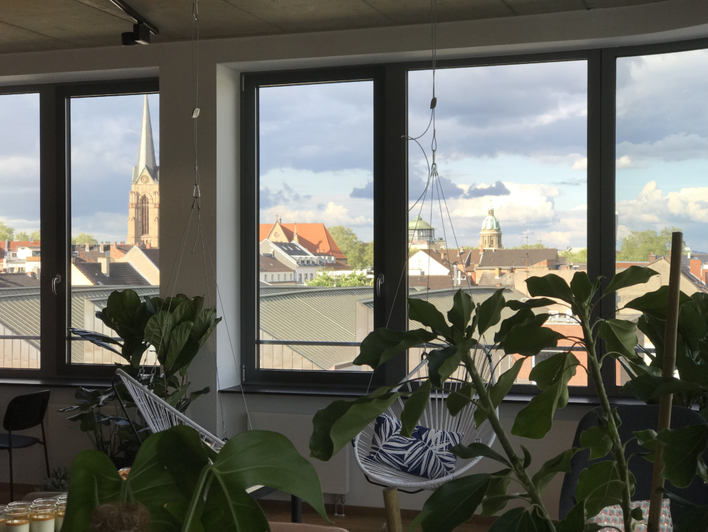 Image of the view from the office of valantic Customer Engagement & Commerce (CEC) in Mannheim