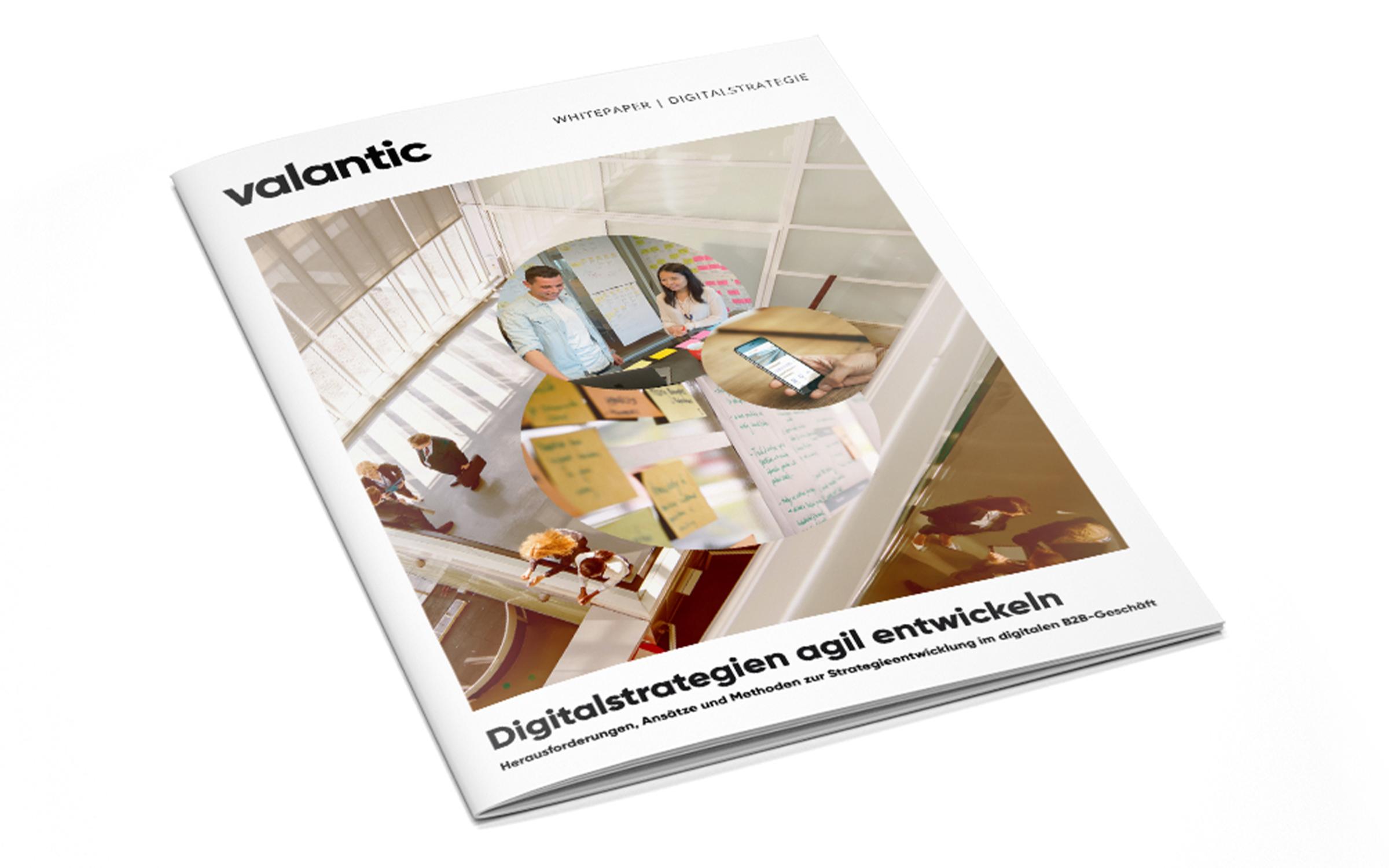 Bild einer Zeitschrift, valantic Whitepaper Digitalstrategien agil entwickeln